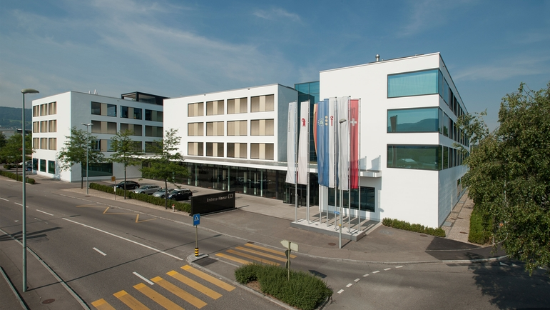 The headquarters of the Endress+Hauser Group in Reinach, Switzerland.